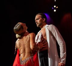 Oxana Lebedew&Pavel Zvychaynyy bei der Rumba