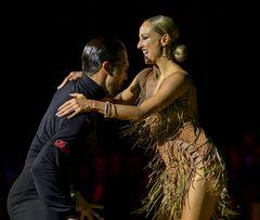 Oxana Lebedew&Pavel Zvychaynyy bei der Samba