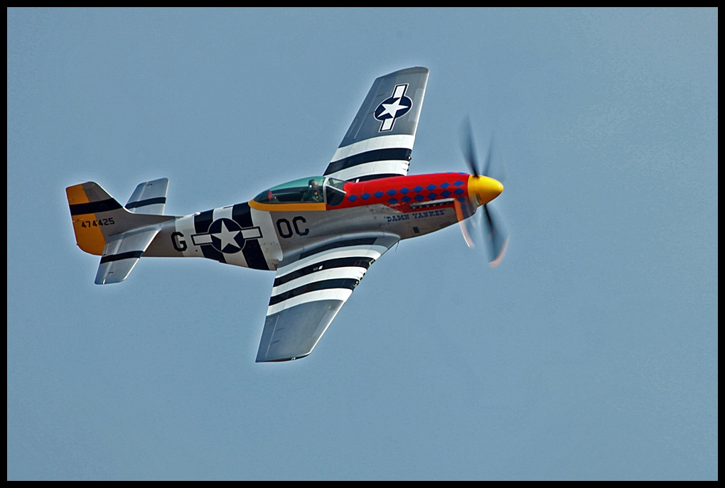 P-51 Mustang ---Vorbeiflug