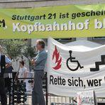 P* Stuttgart K21 - Bürger auf dem Marktplatz ... W.Sittler AKTUELL 29.7.11 13:05h