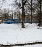 P-Wagen im Schnee