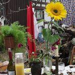 P20 Tisch mit Blume Talk P20-lei-19col +8Fotos