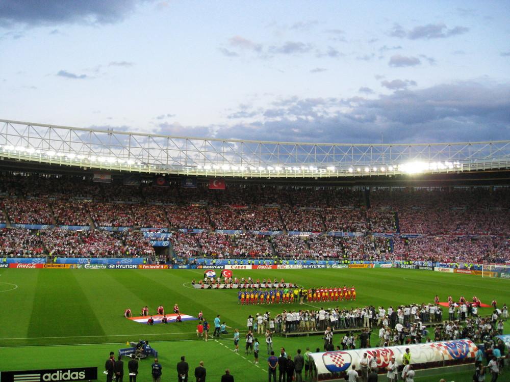 paar Minuten vor dem Match