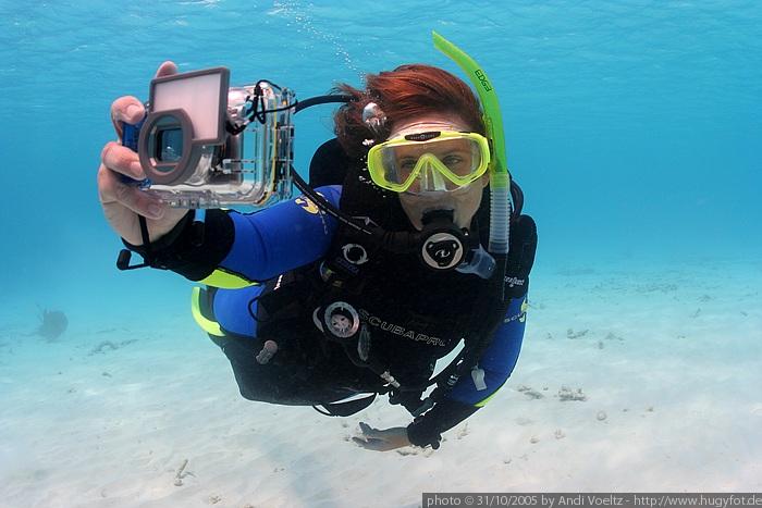PADI D.U.P. Werbefoto mit Canon Kompaktkamera