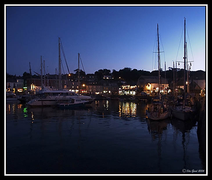 Padstow Harbour at Night