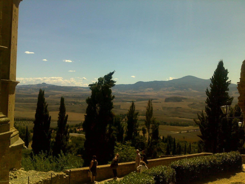 Paesaggio di Pienza, Toscana.