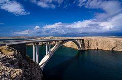 Pager Brücke, Dalmatien. Kroatien