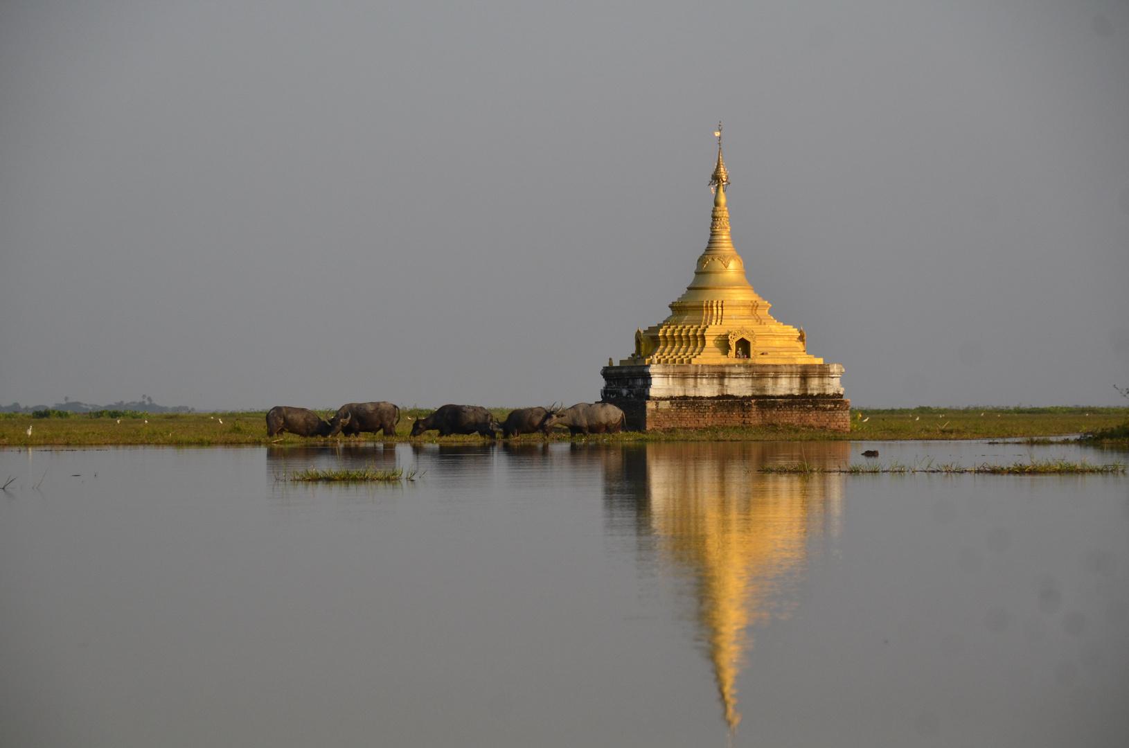 Pagode in der Nähe von Bago, Myanmar