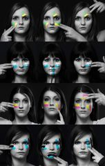 painted girl's