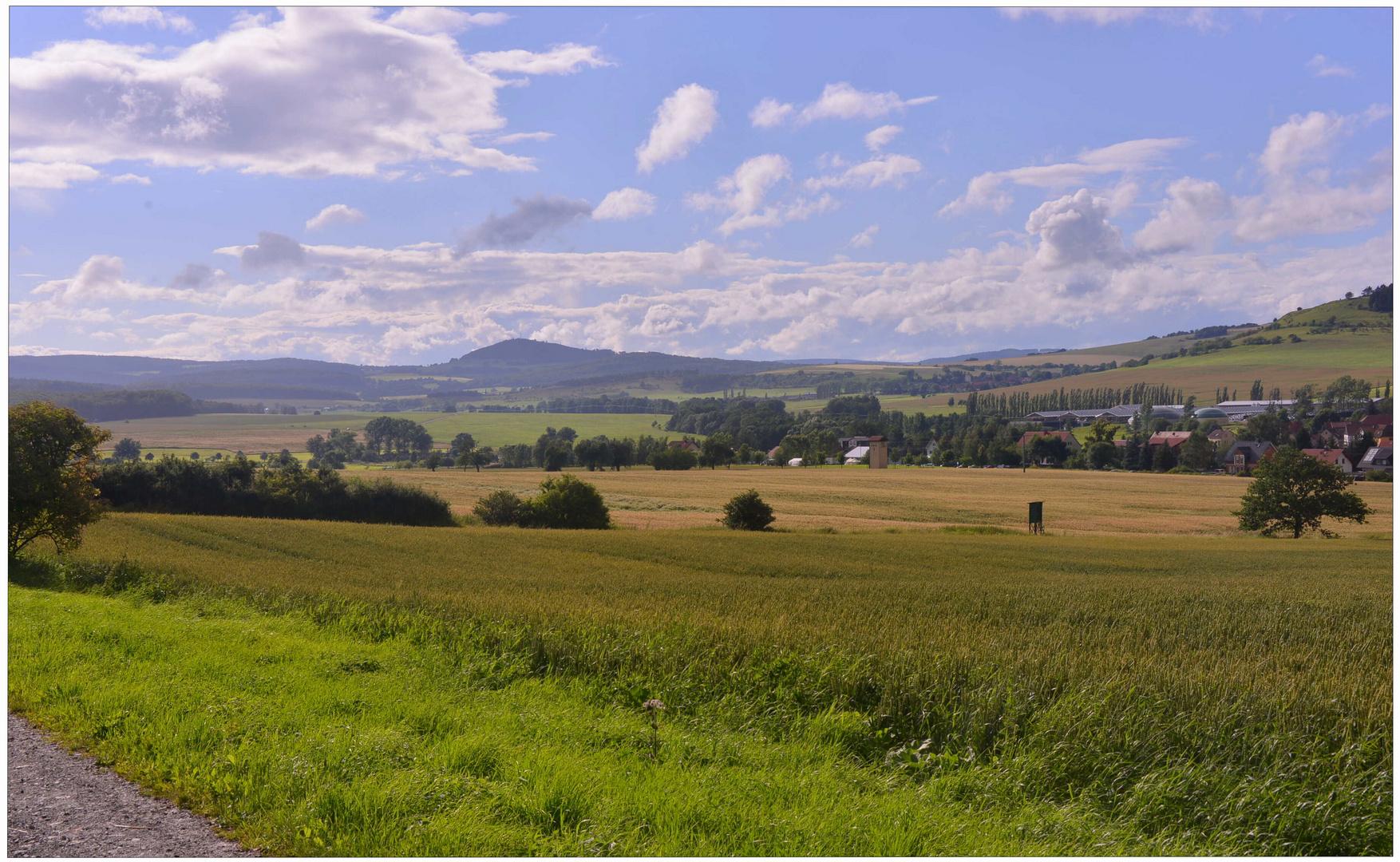 Paisaje alrededor de mi pueblo (Landschaft um meinem Dor)