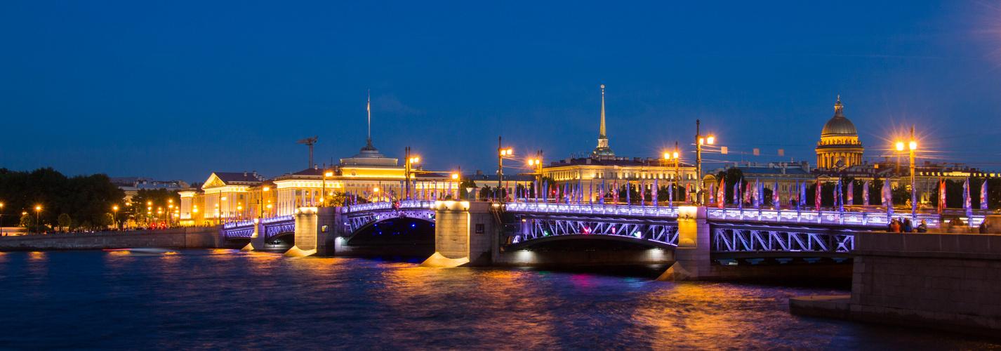 Palastbrücke, St. Petersburg 2018