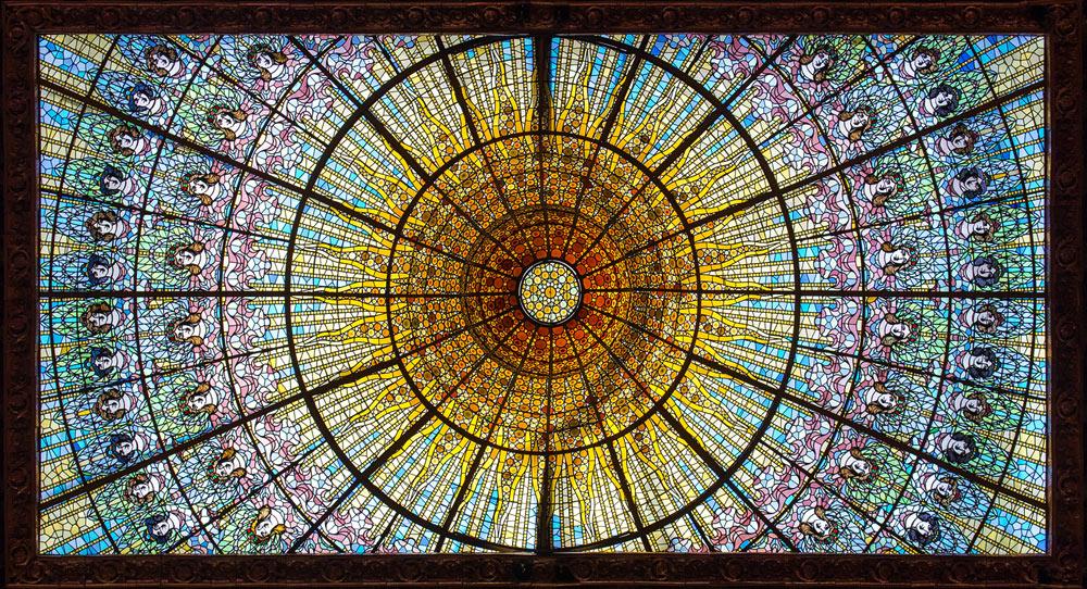 Palau de la Música Catalana: das Oberlicht