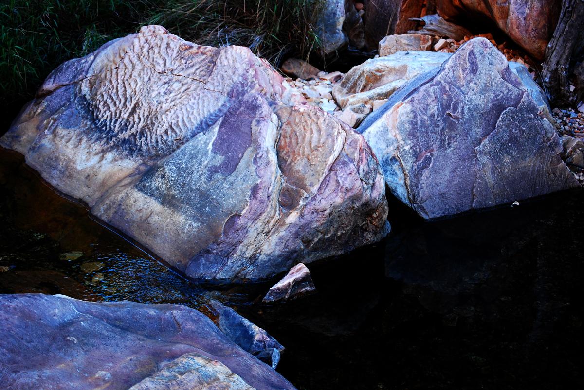 pale violet rocks