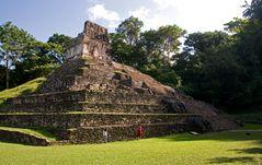 Palenque - Der Sonnentempel von hinten gesehen
