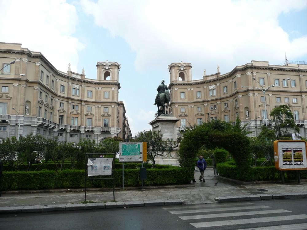 Palermo-von der Bahnhof gesehen