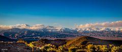 Palm Springs, California, Berge mit Schnee