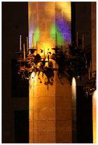 Palma Cathedral Pillar in Sunlight