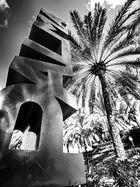 Palma en blanco y negro