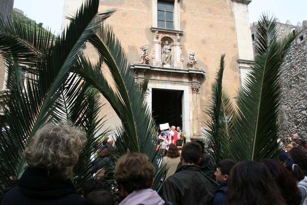 Palmsonntag in Taormina