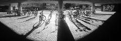 PAN 180Grad Bike in the sunset sw-J5