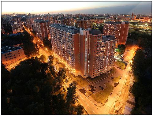 Panaramic foto of Moscow quarter.
