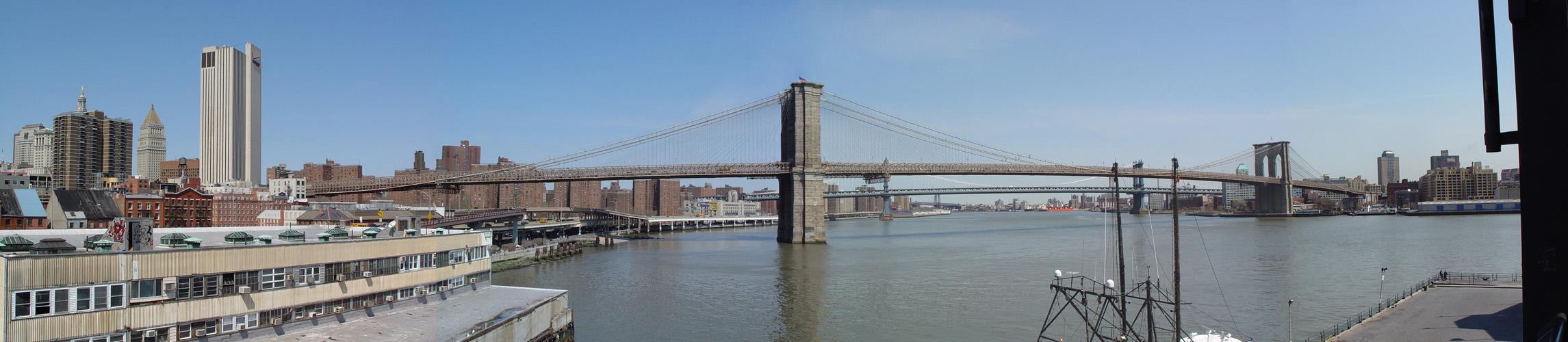 Panaromablick an Brooklyn Bridge