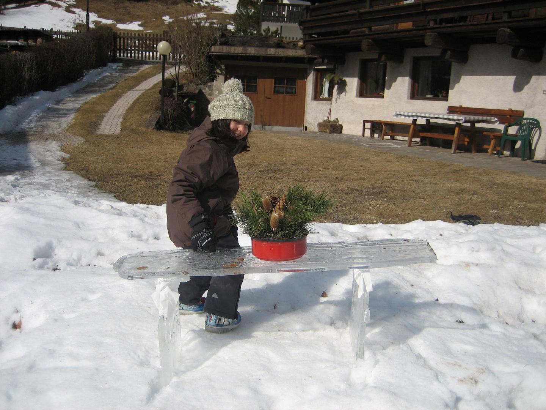 panchina di ghiaccio