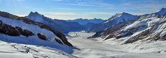Pano vom 2799 m hohen Konkordiplatz