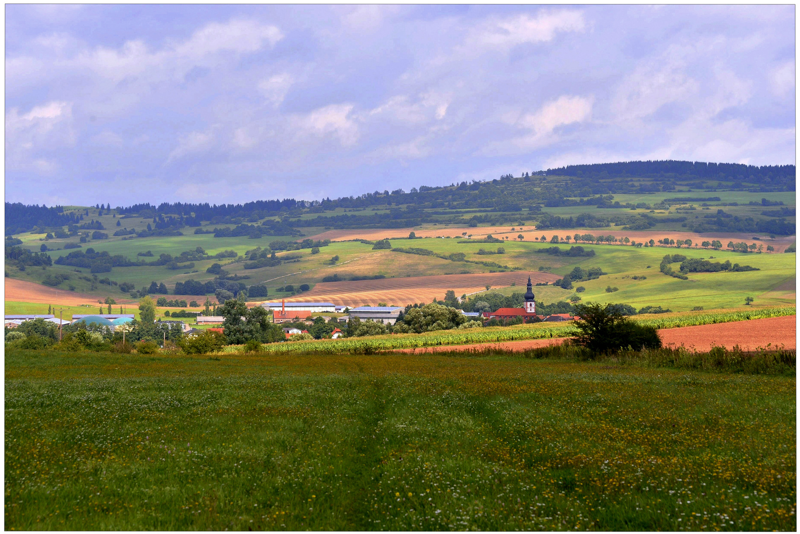 panorama a mi pueblo (Blick auf mein Dorf)