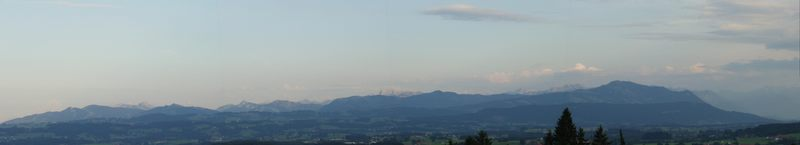 Panorama Allgäuer Alpen