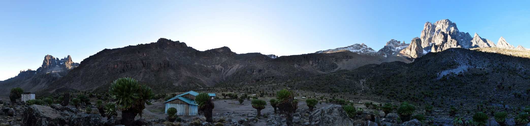 Panorama am Mount Kenia