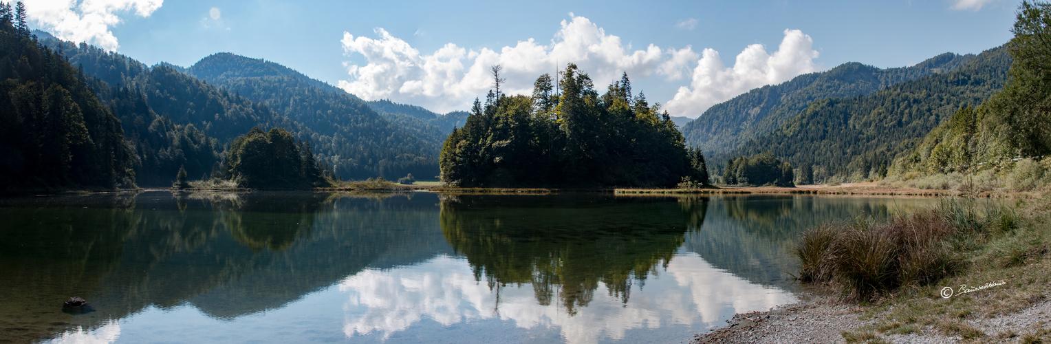 Panorama am Weitsee bei Reit im Winkl