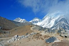 Panorama auf dem Rückweg vom Everest Base Camp