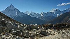 Panorama auf dem Weg zum Kalar Patar