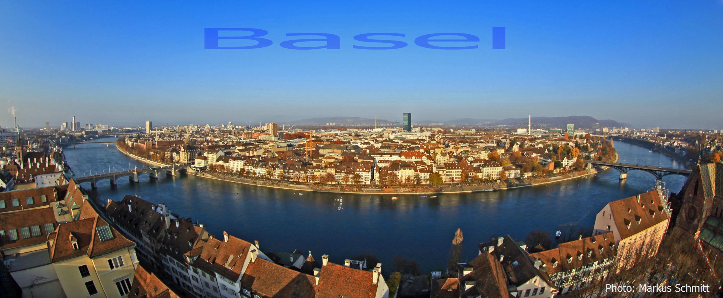 Panorama Aufnahme von Basel