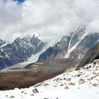 Panorama beim Abstieg vom Larke Pass