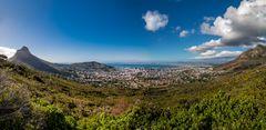 Panorama Blick auf Kapstadt