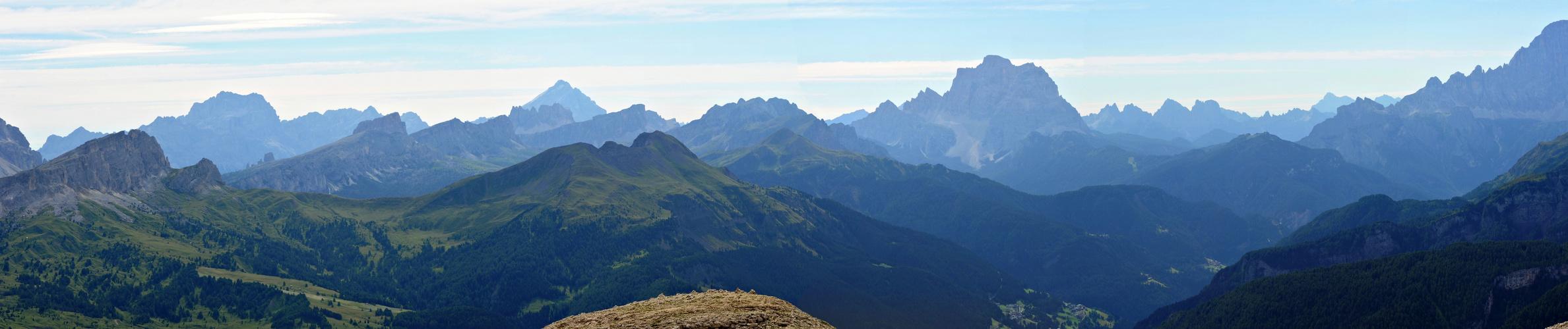panorama: Blick von der Franz Kostnerhütte