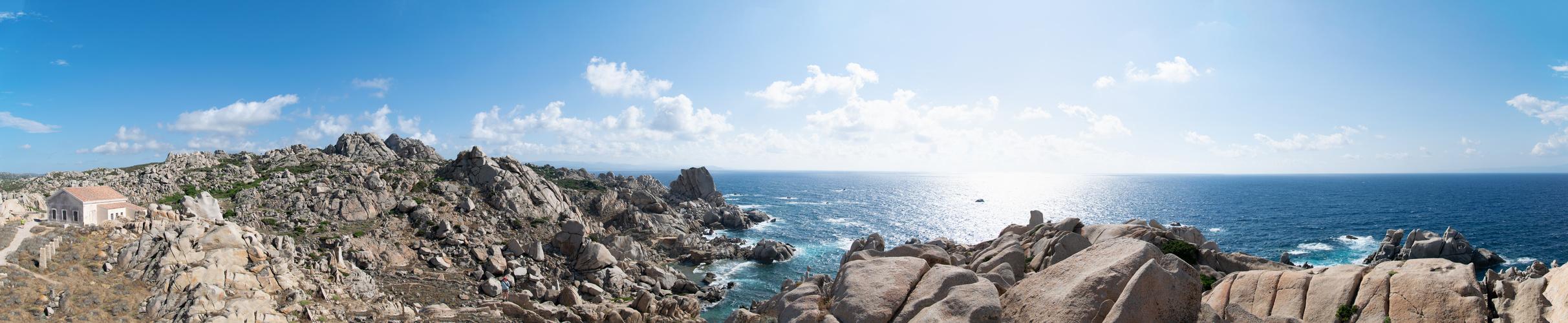 Panorama Capo Testa Sardinien