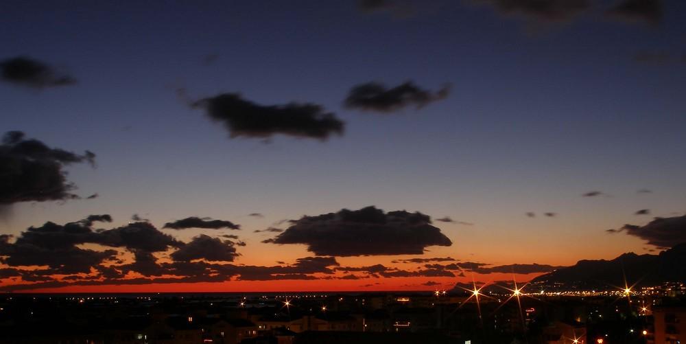 Panorama dal mio terrazzo ...Salerno e la Costiera Amalfitana