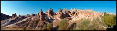 Panorama der Felsenlandschaft bei Ürgüp