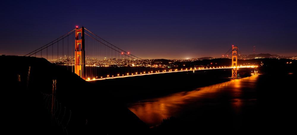 panorama der golden gate bridge foto bild north. Black Bedroom Furniture Sets. Home Design Ideas