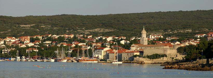 Panorama der Stadt Krk