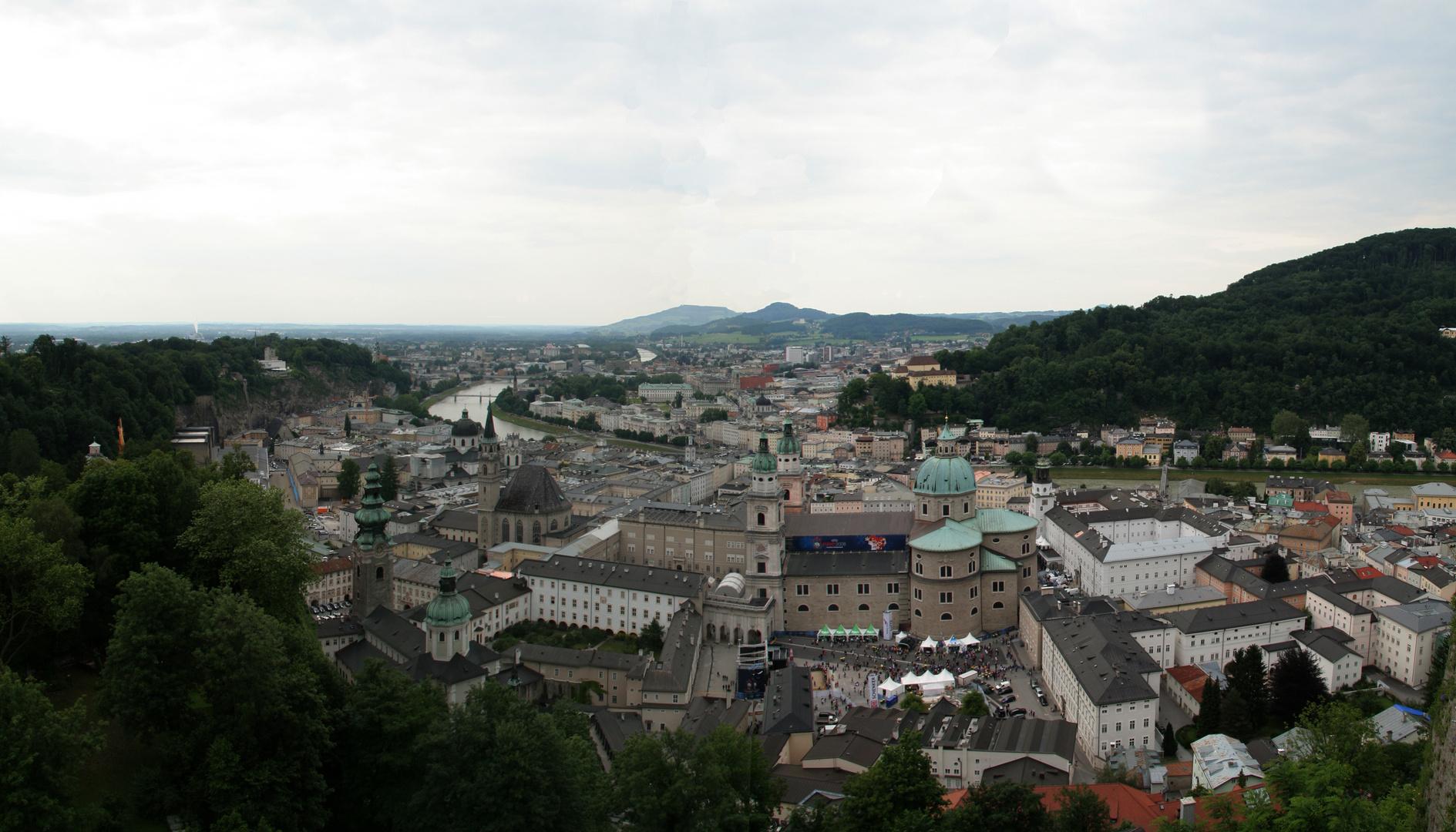 Panorama des Salzburg