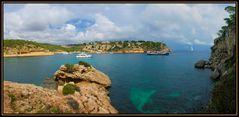 Panorama einer Bucht auf Mallorca