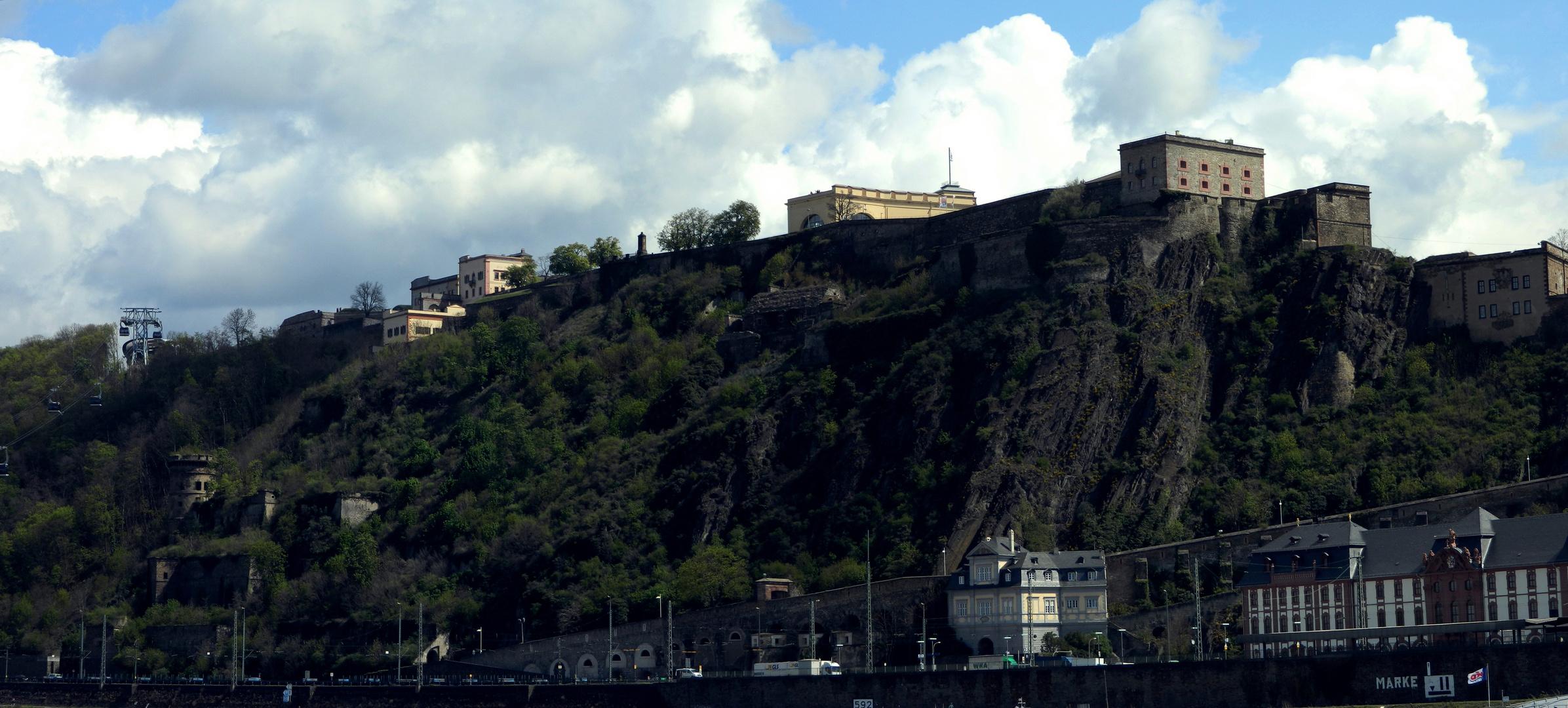 Panorama: Festung Ehrenbreitstein