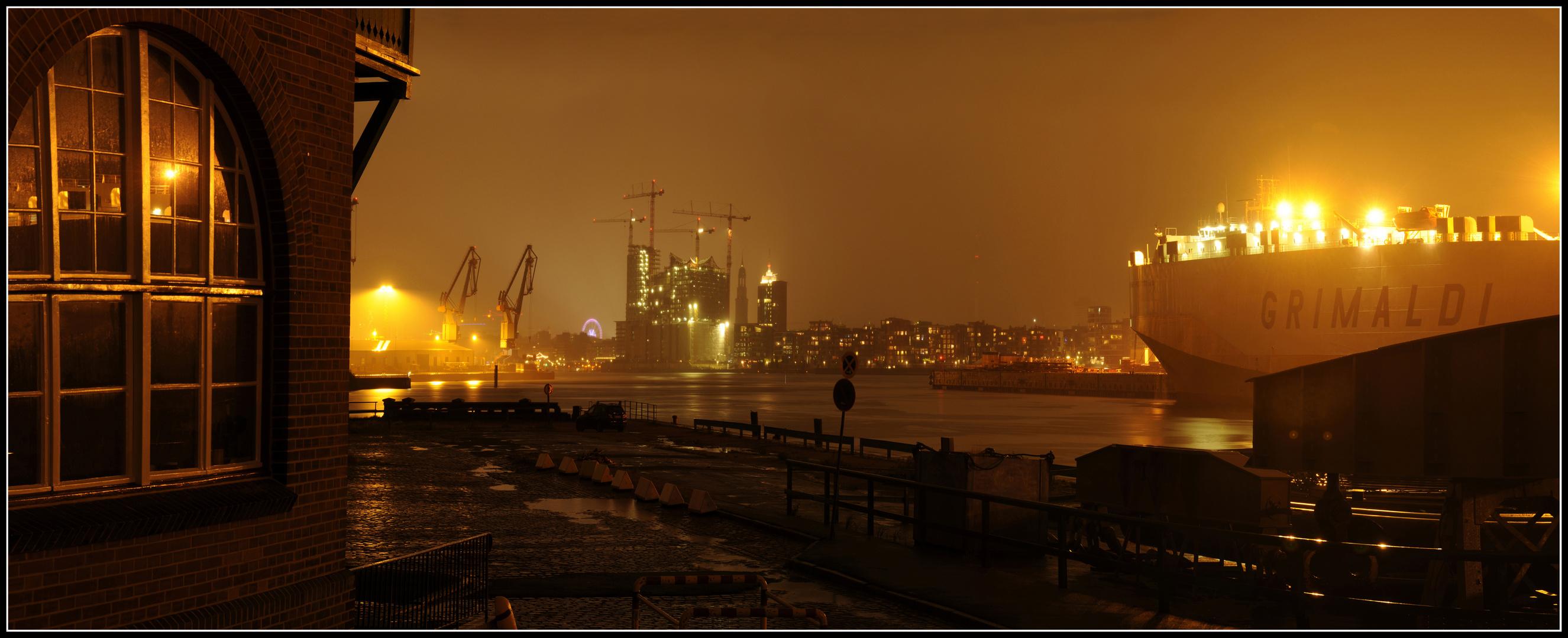 Panorama Hamburger Hafen