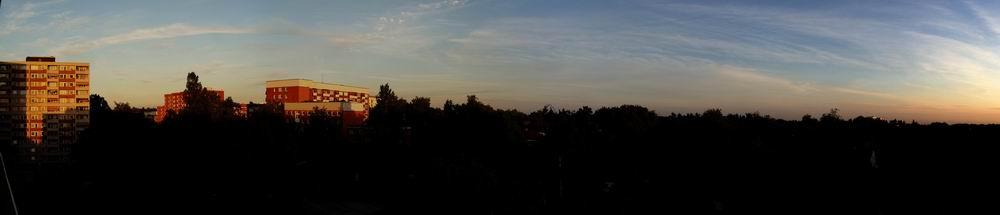 Panorama in der Abendsonne