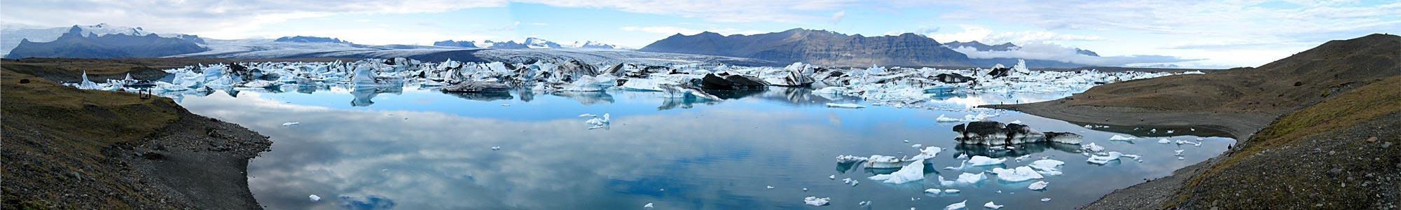 Panorama Jökulsárlón -- Island