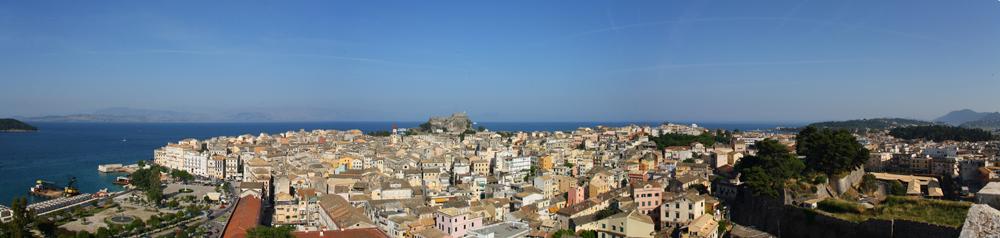 Panorama Korfu Stadt